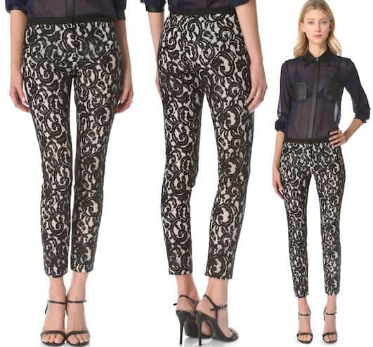 STYLESTALKER Panther Lace Pants in Black