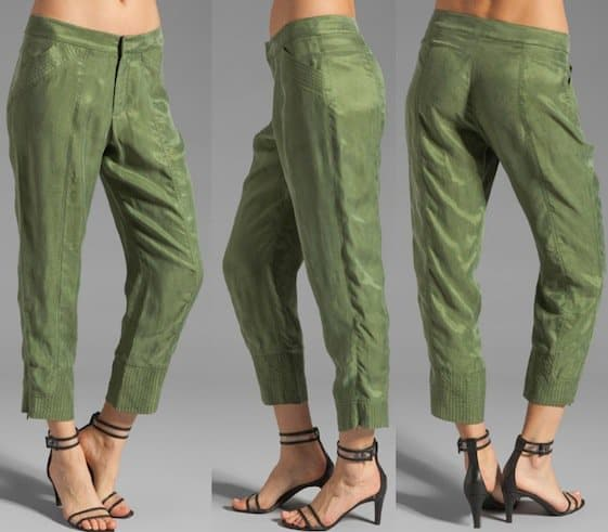10 Crosby Derek Lam Slim Pants in Military