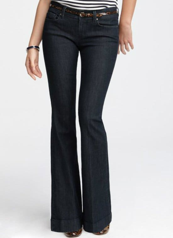 Ann Taylor Modern Denim Flare Jeans