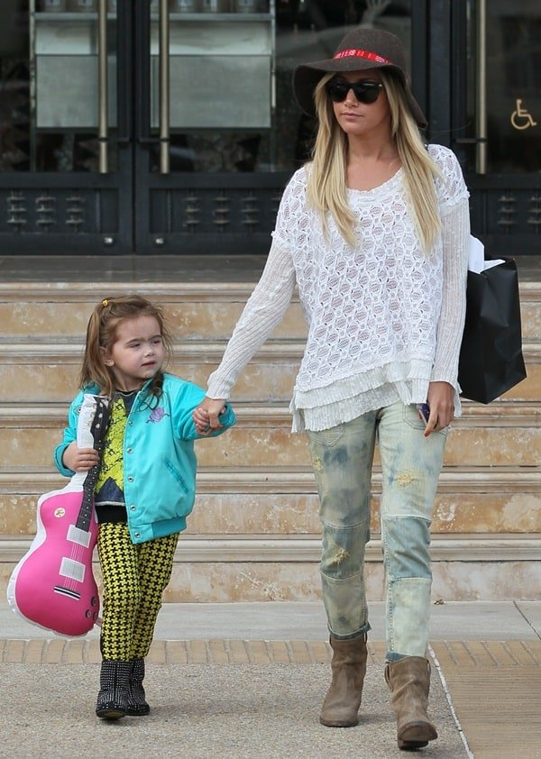 Ashley Tisdale shopping at Barneys New York