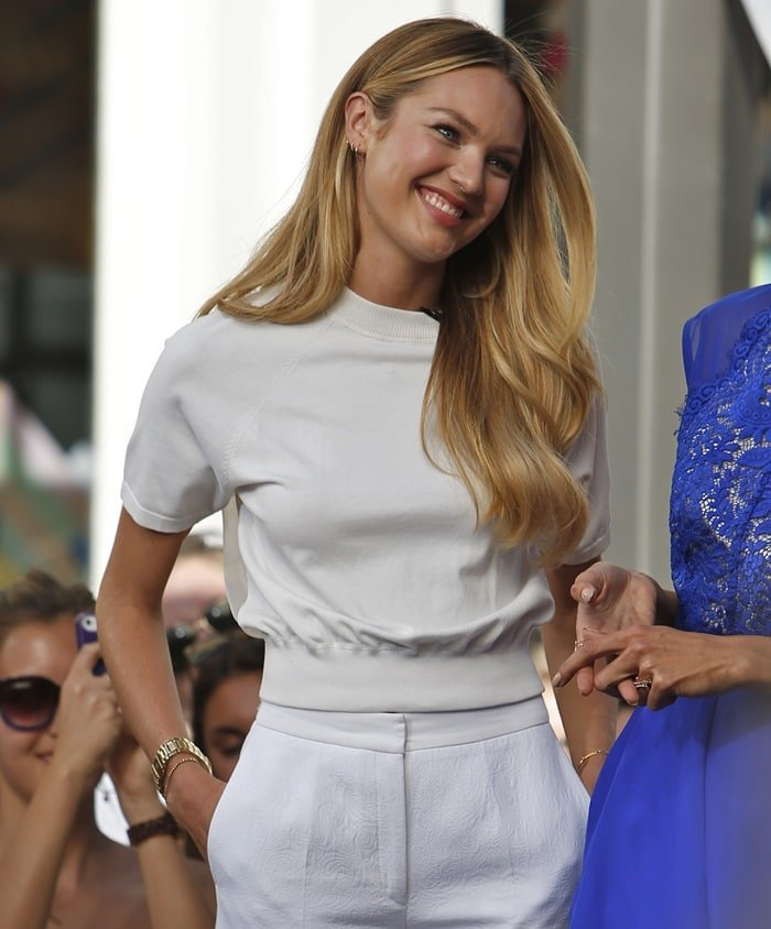 After seeing Victoria's Secret model Candice Swanepoel don a white-on-white ensemble for an appearance at The Grove, I've been itching to wear something exactly like it.