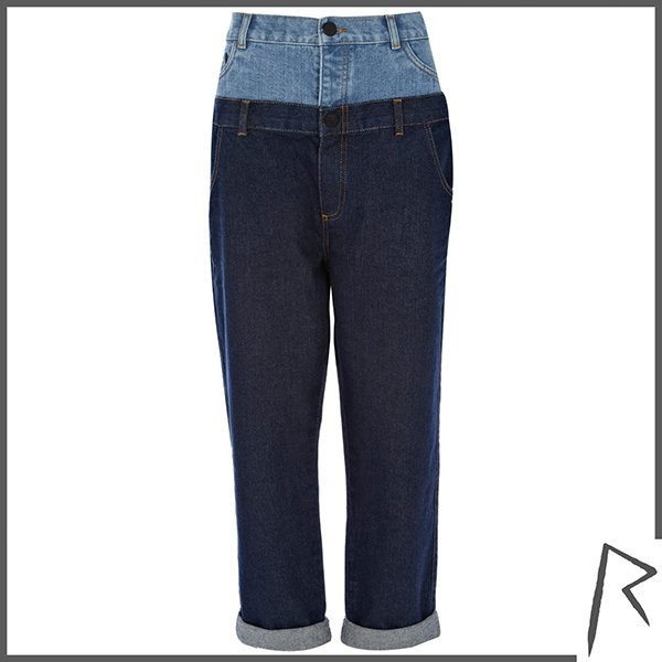 Dark Wash Rihanna Double Top Straight Jeans