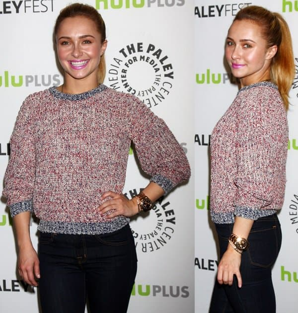 Hayden Panettiere wearing a woolen pullover at The Paley Center for Media's PaleyFest 2013