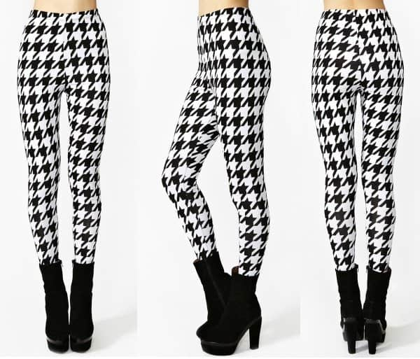 Nasty Gal Houndstooth Leggings