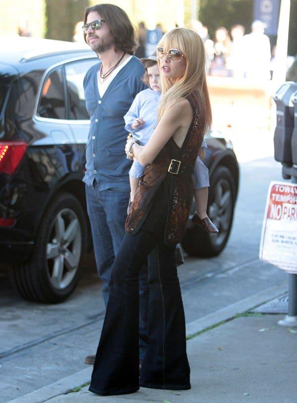 Rachel Zoe, her son Skyler Berman, and husband Rodger Berman at a John Varvatos charity event
