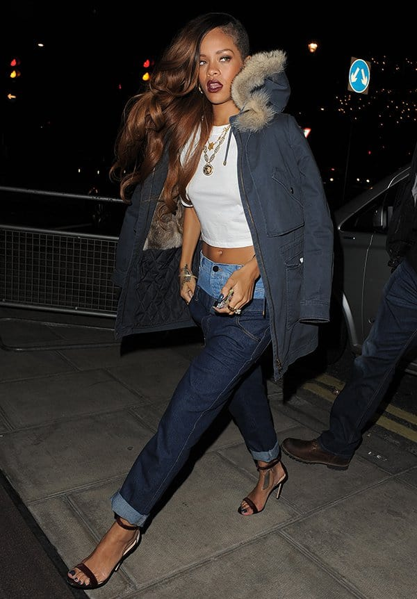 Rihanna Arriving Back At Her Hotel