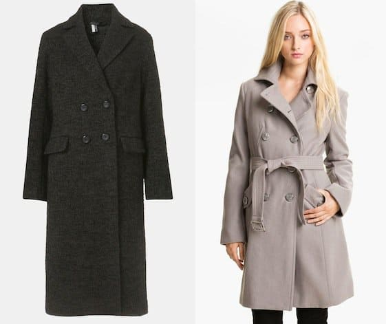 Tailored wool trench coats