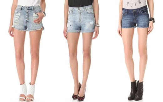 Sexy women's denim shorts