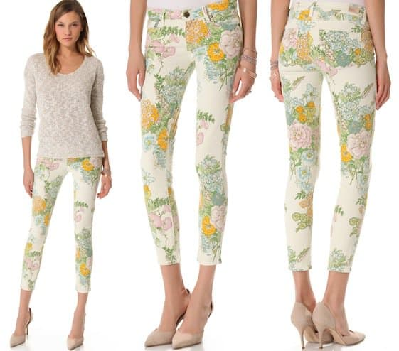 Paige Denim Verdugo Ankle Skinny Jeans in Flea Market Floral