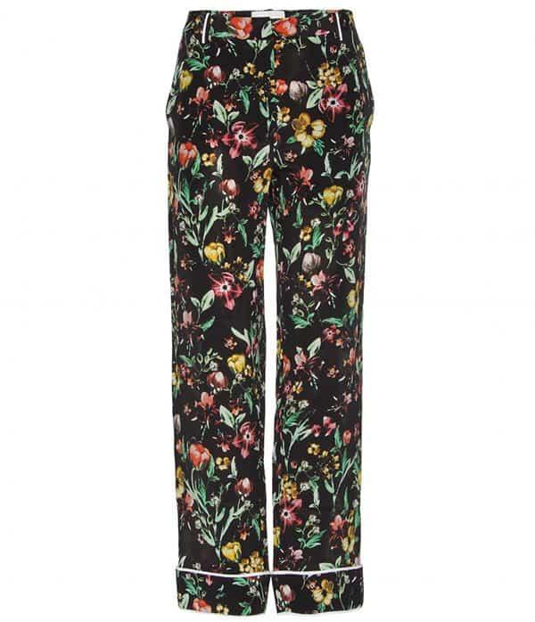 3.1 Phillip Lim Floral Print Silk Trousers
