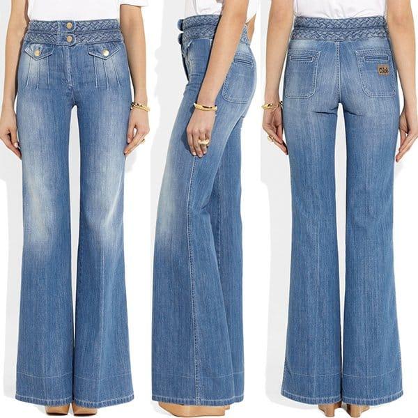 Chloe High-rise wide-leg jeans