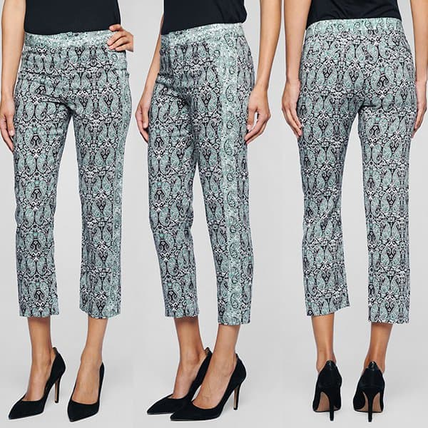 Ella Moss Dixon Paisley Pants in Black