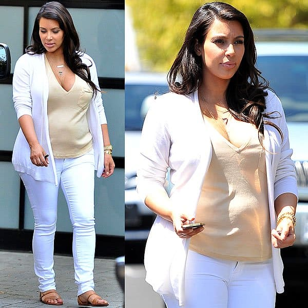 Kim Kim Kardashian out to lunch at Il Pastaio restaurant in Beverly Hills, California on April 20, 2013