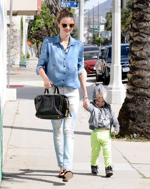 Miranda Kerr takes her son, Flynn Christopher Bloom, on a play date in West Hollywood