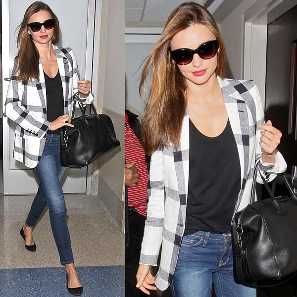Miranda Kerr's camera-ready airport outfit