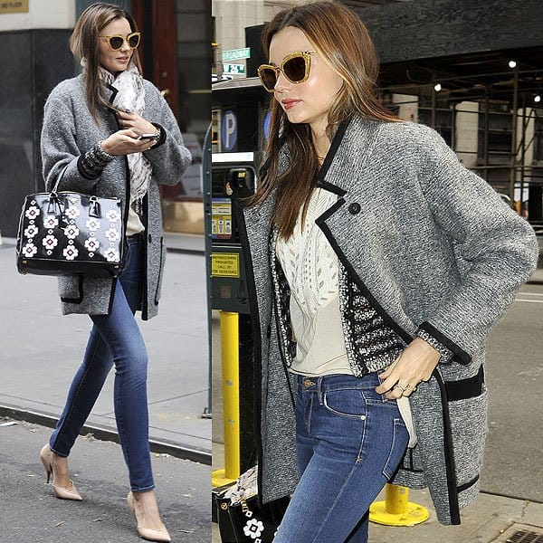 Miranda Kerr wearing jeans in Manhattan