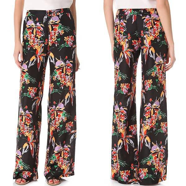 10 Crosby Derek Lam Floral Wide Leg Pants
