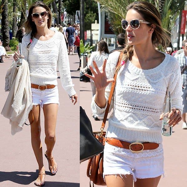 Alessandra Ambrosio walking on the Promenade de la Croisette during the 66th Cannes Film Festival in Cannes, France on May 22, 2013
