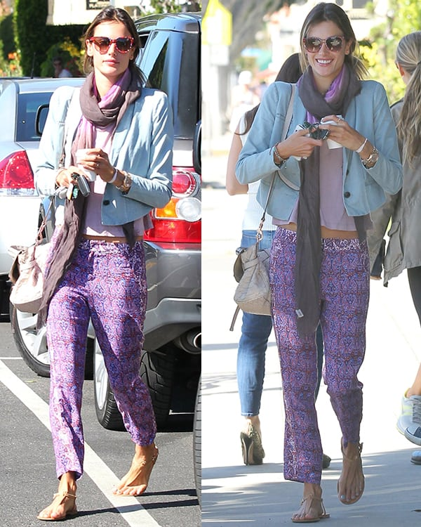 Alessandra Ambrosio at Cafe Luxxe on Montana in Santa Monica on April 19, 2013