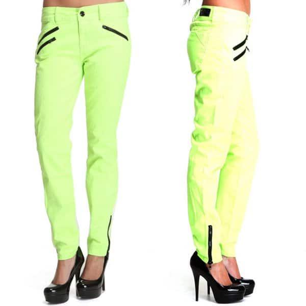 Baby Phat Multi Zip Ankle Skinny Jeans