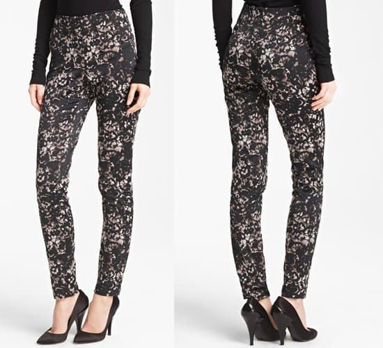 Donna Karan Collection Lace Print Stretch Satin Pants
