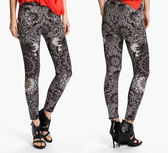 Helmut Lang Medallion Print Leggings