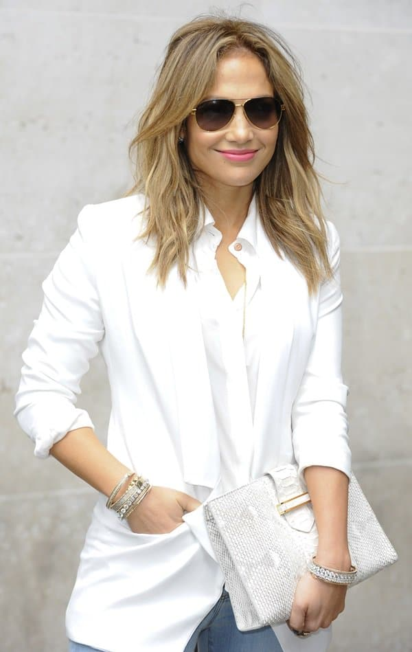 Jennifer Lopez at the BBC 1 studios in London, United Kingdom on May 30, 2013