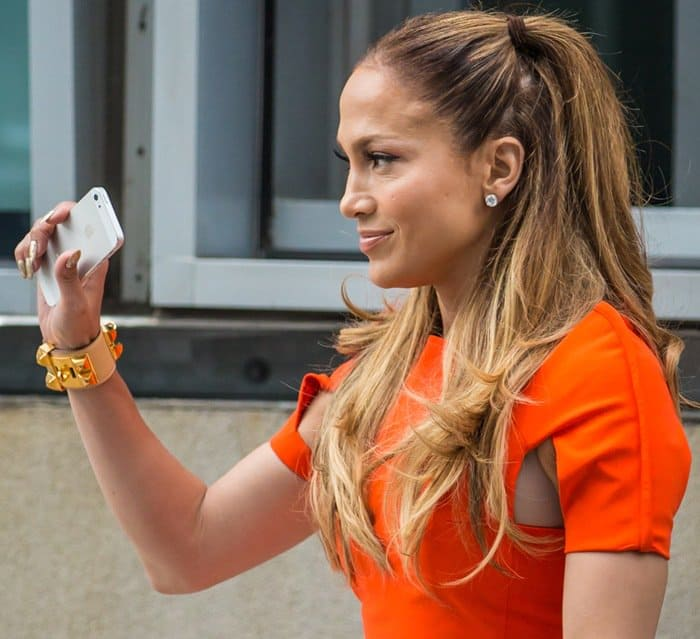 Jennifer Lopez filming her new music video