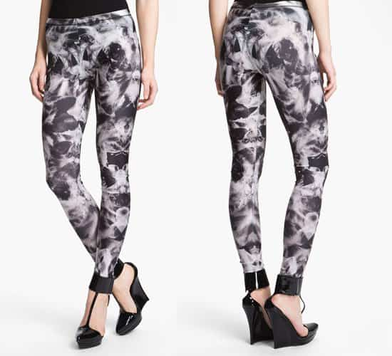 McQ by Alexander McQueen Orchid Print Leggings
