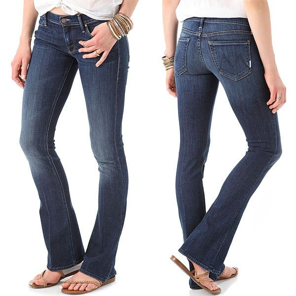 Mother Runaway Skinny Flare Jeans Flowers From the Storm