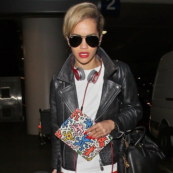 Rita Ora at the LAX airport in Los Angeles on May 4, 2013