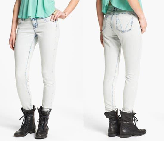 STS BLUE Acid Wash Skinny Jeans