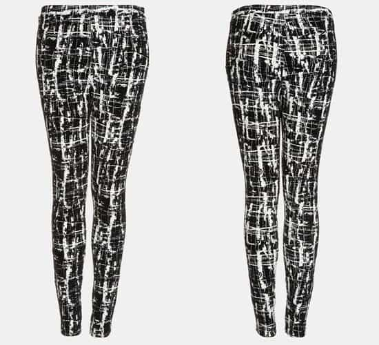 Topshop Flocked Scratch Print Skinny Pants