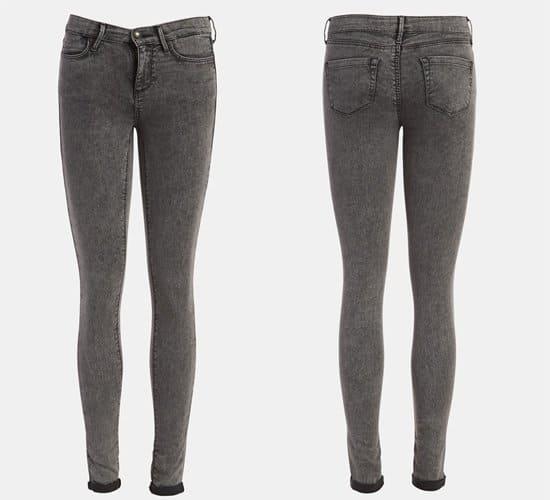 Topshop Moto Leigh Acid Wash Skinny Jeans