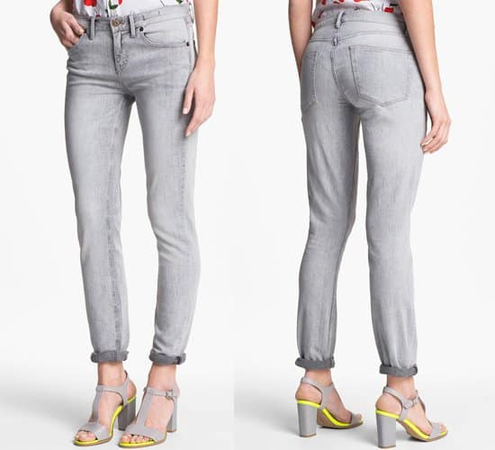 Two by Vince Camuto Shorty Jeans in Sandy Grey