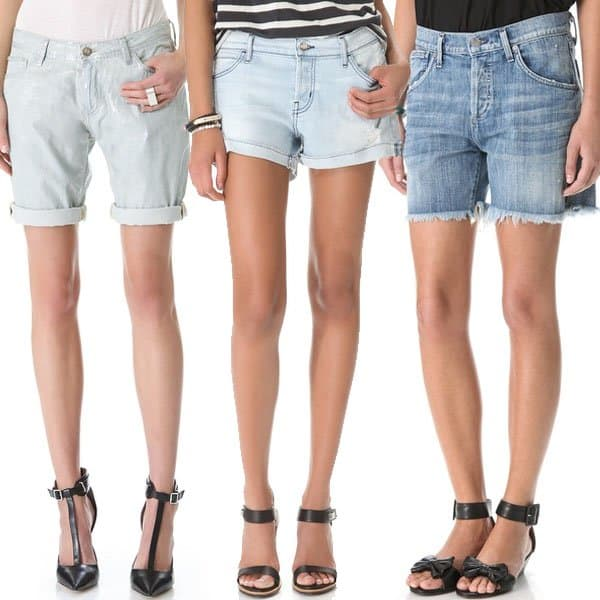 Loose and relaxed denim cut off shorts
