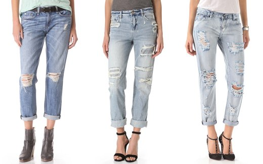 Distressed Jeans Set A