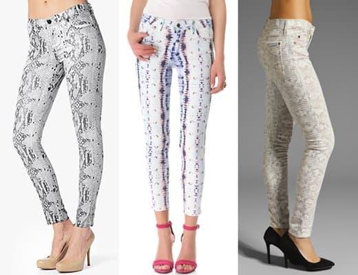 Snakeskin-Inspired Jeans