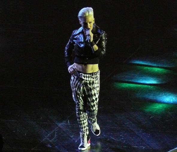 Pink performing live during The Truth About Love Tour held at O2 World, Berlin, Germany on May 3, 2013