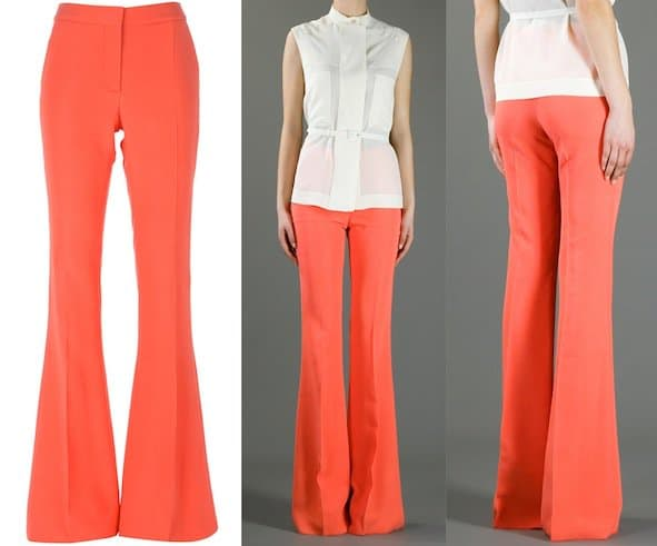 """Stella McCartney """"Bedford"""" Trousers in Orange"""