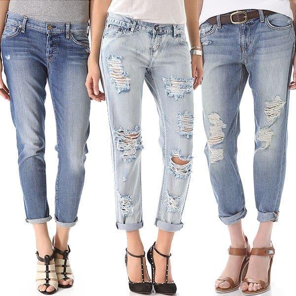 Popular boyfriend jeans
