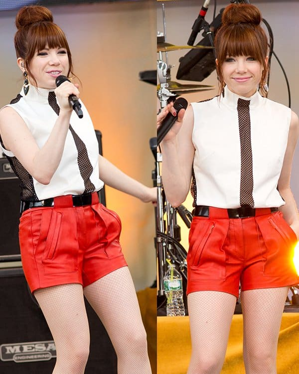 Carly Rae Jepsen performing live as part of Good Morning America's 2013 Summer Concert Series in Central Park, New York City on June 14, 2013