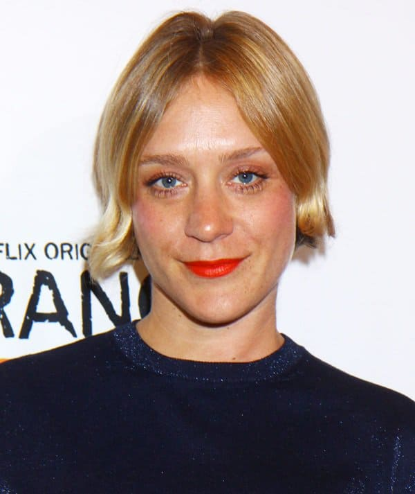 Chloe Sevigny wearing printed high-waist shorts at the premiere of 'Orange Is the New Black' at The New York Botanical Garden in New York City on June 25, 2013