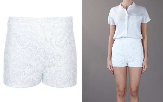 Ermanno Scervino Short Lace Short