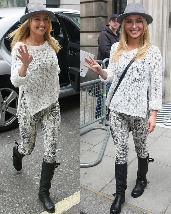 Hayden Panettiere leaving the BBC Radio 2 studios in London on June 7, 2013
