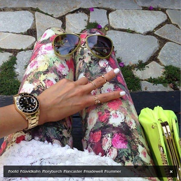 Jamie Chung Instagram David Kahn floral jeans