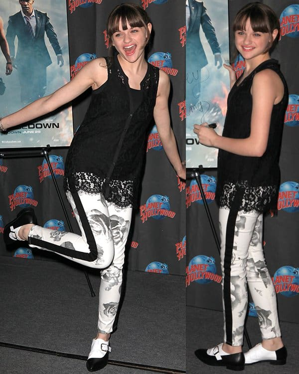 Joey King promoting 'White House Down' at Planet Hollywood Times Square in New York City on June 24, 2013
