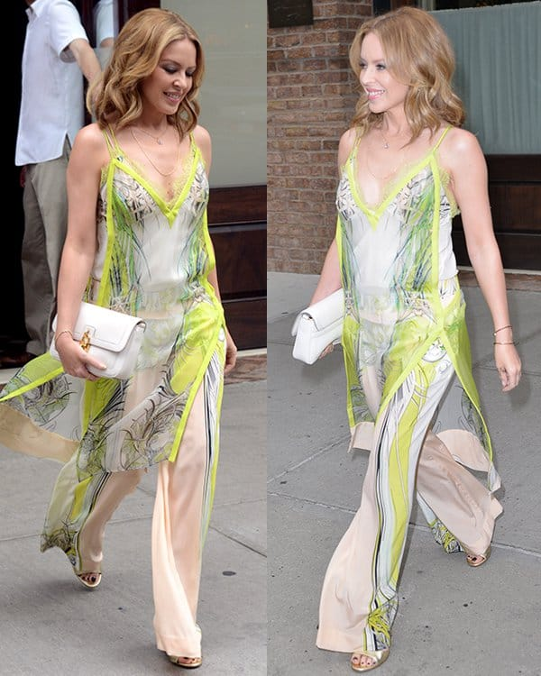 Kylie Minogue leaving her hotel in Manhattan, New York City on June 18, 2013
