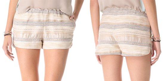 LAgence Tweed Track Shorts