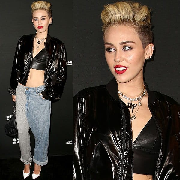 Miley Cyrus at a Myspace event at the El Rey Theatre in Los Angeles, California on June 12, 2013
